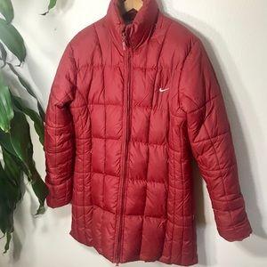 Nike Women's Red Puffer Jacket